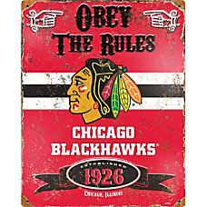 Party Animal Chicago Blackhawks Embossed Metal