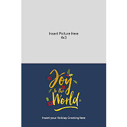Photo Greeting Card Vertical Gold And