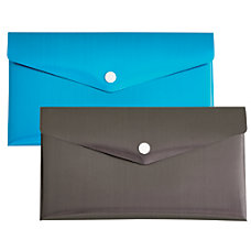 Divoga Poly Snap Check Envelope Metallic