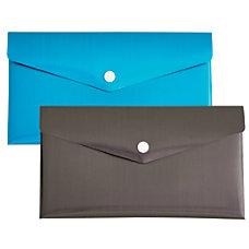 Divoga Poly Snap Check Envelope Metallic