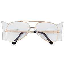 ENGINEER GOLD FRAME CLEAR LENS SAFETY