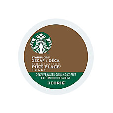 Starbucks Pike Place Decaffeinated Coffee K