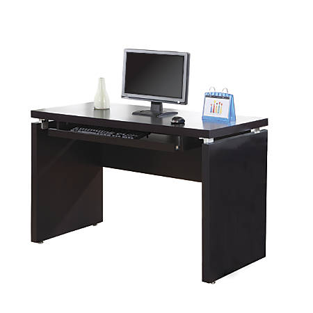 Monarch Specialties Computer Desk With Keyboard Tray Cappuccino by