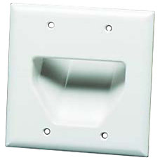 Datacomm Recessed Low Voltage Faceplate