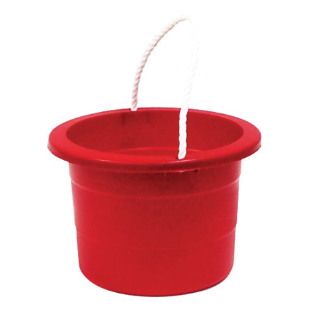 united comb novelty rope handle plastic bucket 2 5 gallons red by office depot officemax. Black Bedroom Furniture Sets. Home Design Ideas