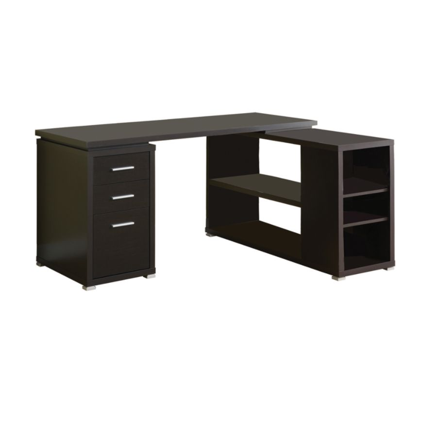 Monarch Specialties L Shaped Computer Desk With Book Shelf