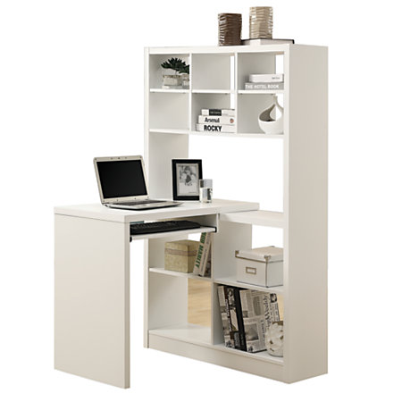 monarch specialties corner computer desk with built in. Black Bedroom Furniture Sets. Home Design Ideas