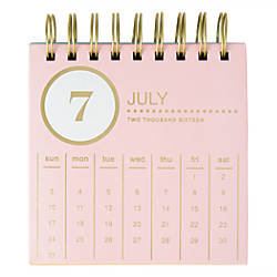 divoga monthly easel desk calendar 5 x 5 whimsical wonder july