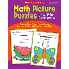 Scholastic Math Picture Puzzles For Little