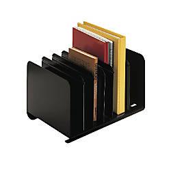 STEELMASTER Adjustable Steel Book Rack Black