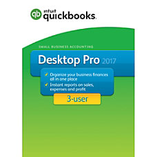 QuickBooks Desktop Pro 2017 For 3