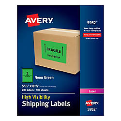 Avery Permanent Neon Shipping Labels 5