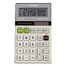 Sharp EL 377MB 10 Digit Calculator