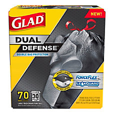 Glad ForceFlex Drawstring Trash Bags 30