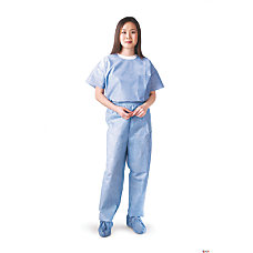 Medline Disposable Elastic Waist Scrub Pants