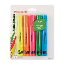 Office Depot Brand Chisel Tip Highlighters