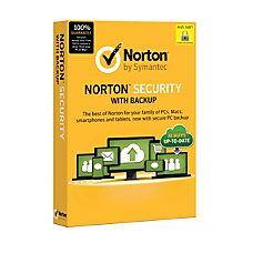 Norton Security With Backup For 10