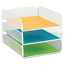 Safco Onyx Letter Tray 3 Compartments