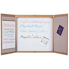 Quartet Laminated Conference Room Cabinet Oak