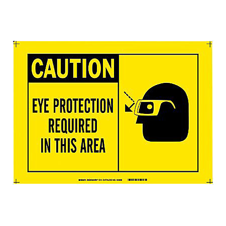 10 X14 Plastic Cautioneye Protection Required By Office