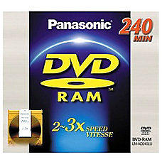 Panasonic 3x DVD RAM Double Sided