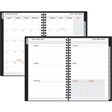 FORAY WeeklyMonthly Planner With Simulated Leather