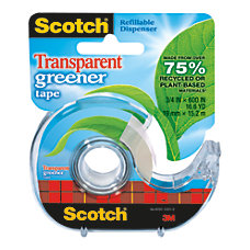 Scotch Transparent Greener Tape 1 Core