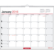 Office Depot Brand Wall Calendar With