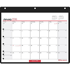 Office Depot Brand Horizontal Monthly Wall