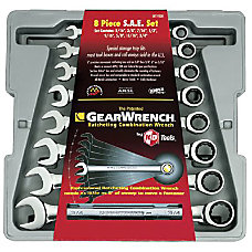 8PC FRACTIONAL RATCHETING WRENCH SET