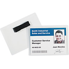 Office Depot Brand Magnetic Badge Holders