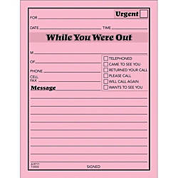 Telephone Message Pads  Voicemail Log Books At Office Depot