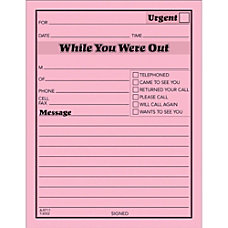TOPS Important Message Note Pads 50