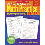 Scholastic Solve Match Math Practice Pages