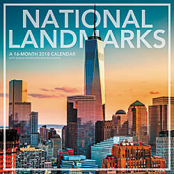 Landmark National Landmarks Monthly Wall Calendar