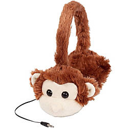 ReTrak Retractable Animalz Monkey Headphones