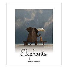 Retrospect Monthly Desk Calendar Elephants 6