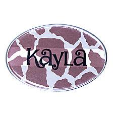 The Mighty Badge Animal Print Name