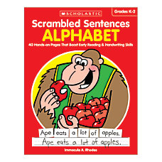 Activity Books Scrambled Sentences Alphabet Grades