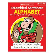 Activity Books Scrambled Sentences Alphabet Grades