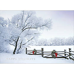 Personalized Holiday Cards With Envelopes Frosty