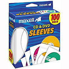 Maxell CDDVD Storage Sleeves