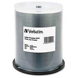 Verbatim CD R Printable Disc Spindle