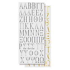Divoga Sticker Sheets Greek Letters Assorted