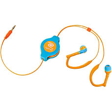 ReTrak Retractable Sports Wrap Earbuds Neon