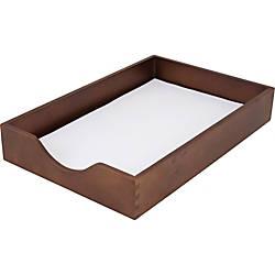 Carver Walnut Finish Solid Wood Desk