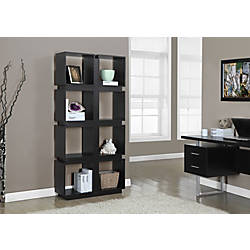 Monarch Specialties 8 Cube Bookcase Cappuccino