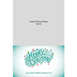 Photo Greeting Card Vertical Multi Merry