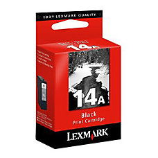 Lexmark No14A Black Ink Cartridge