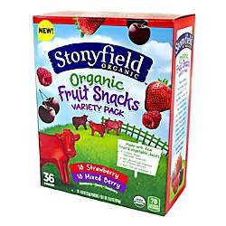 Stonyfield Organic Assorted Fruit Snacks Packs